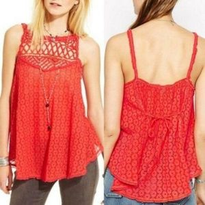 9624 Free People Got My Eyelet You Tunic Top M